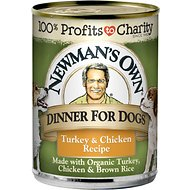 Newman's Own Dinner For Dogs Turkey & Chicken Recipe Canned Dog Food, 12.7-oz, case of 12