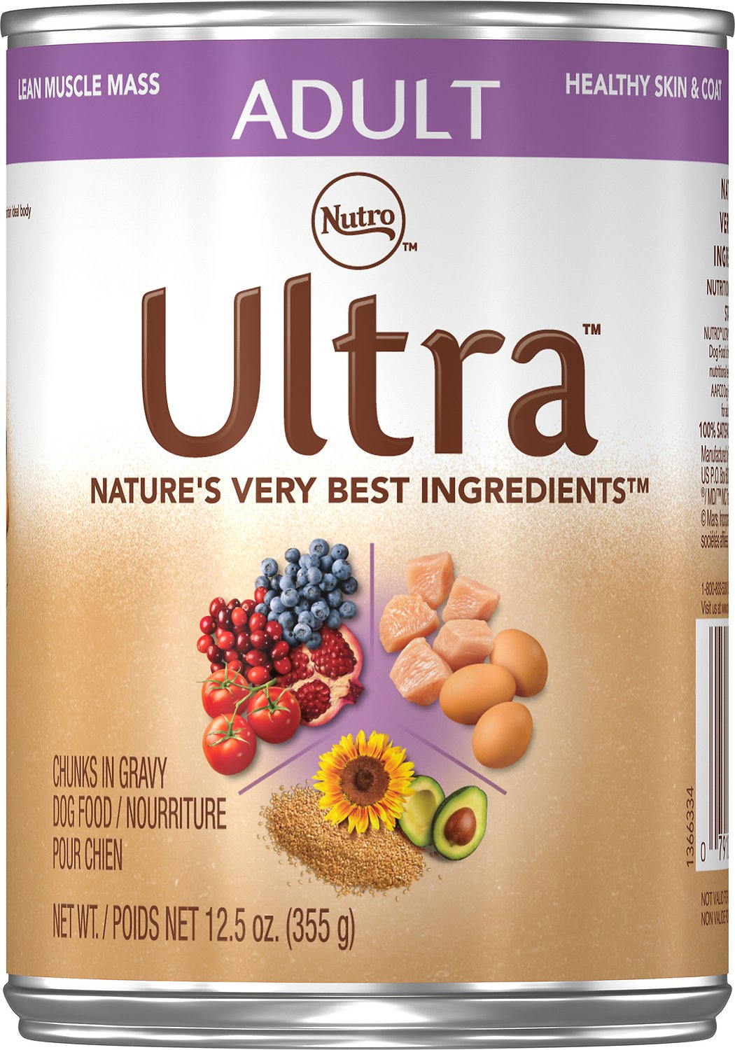 Nutro Ultra Adult Chunks In Gravy Canned Dog Food 12 5 Oz