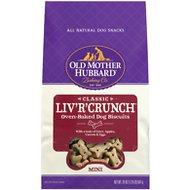 Old Mother Hubbard Classic Liv'R'Crunch Biscuits Mini Baked Dog Treats, 20-oz bag