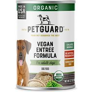 PetGuard Organic Vegetarian Vegan Entree Canned Dog Food, 12.7-oz, case of 12