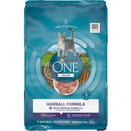 Purina ONE Hairball Adult Formula Dry Cat Food, 16-lb bag