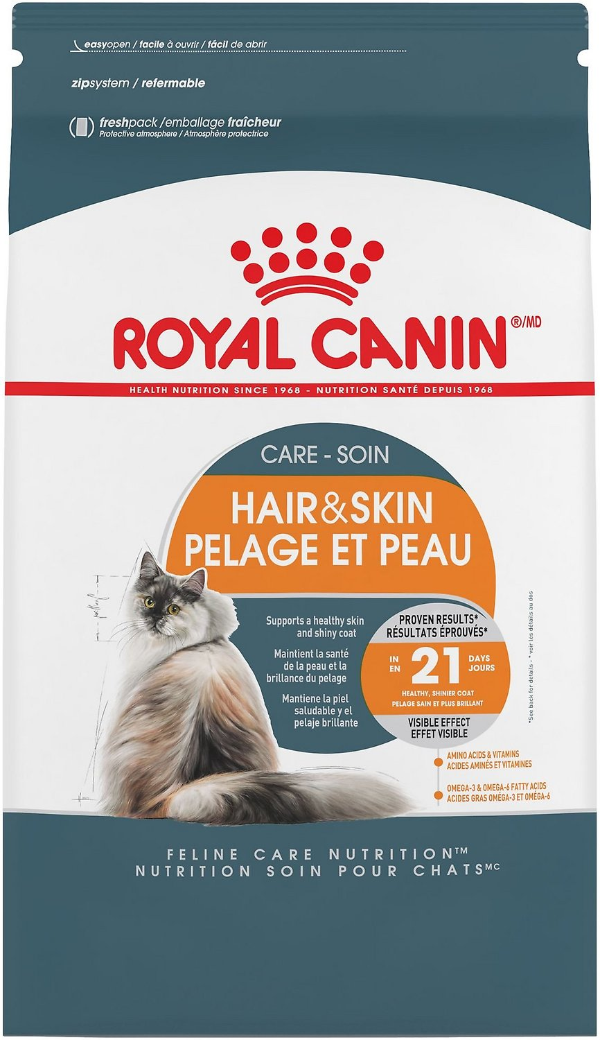 royal canin hair skin care dry cat food 7 lb bag. Black Bedroom Furniture Sets. Home Design Ideas
