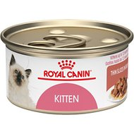 Royal Canin Kitten Instinctive Thin Slices in Gravy Canned Cat Food, 3-oz, case of 24