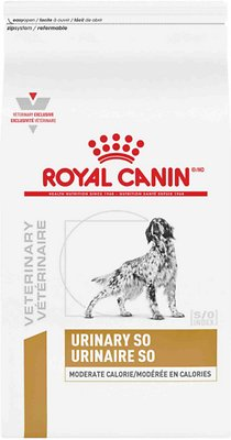 2. Royal Canin Moderate Calorie Urinary SO Veterinary Diet Dry Dog Food