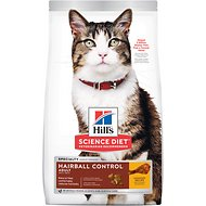 Hill's Science Diet Adult Hairball Control Chicken Recipe Dry Cat Food, 15.5-lb bag