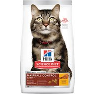 Hill's Science Diet Adult 7+ Hairball Control Dry Cat Food, 15.5-lb bag