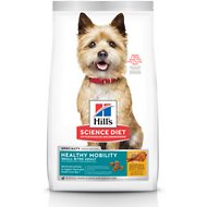 Hill's Science Diet Adult Healthy Mobility Small Bites Chicken Meal, Brown Rice & Barley Recipe Dry Dog Food, 15.5-lb bag