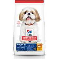 Hill's Science Diet Adult 7+ Small Bites Chicken Meal, Barley & Brown Rice Recipe Dry Dog Food, 5-lb bag