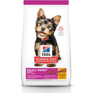Hill's Science Diet Puppy Small Paws Chicken Meal, Barley & Brown Rice Dry Dog Food, 15.5-lb bag