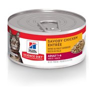 Hill's Science Diet Adult Savory Chicken Entree Canned Cat Food, 5.5-oz, case of 24
