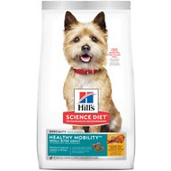 Hill's Science Diet Adult Healthy Mobility Small Bites Chicken Meal, Brown Rice & Barley Recipe Dry Dog Food, 30-lb bag