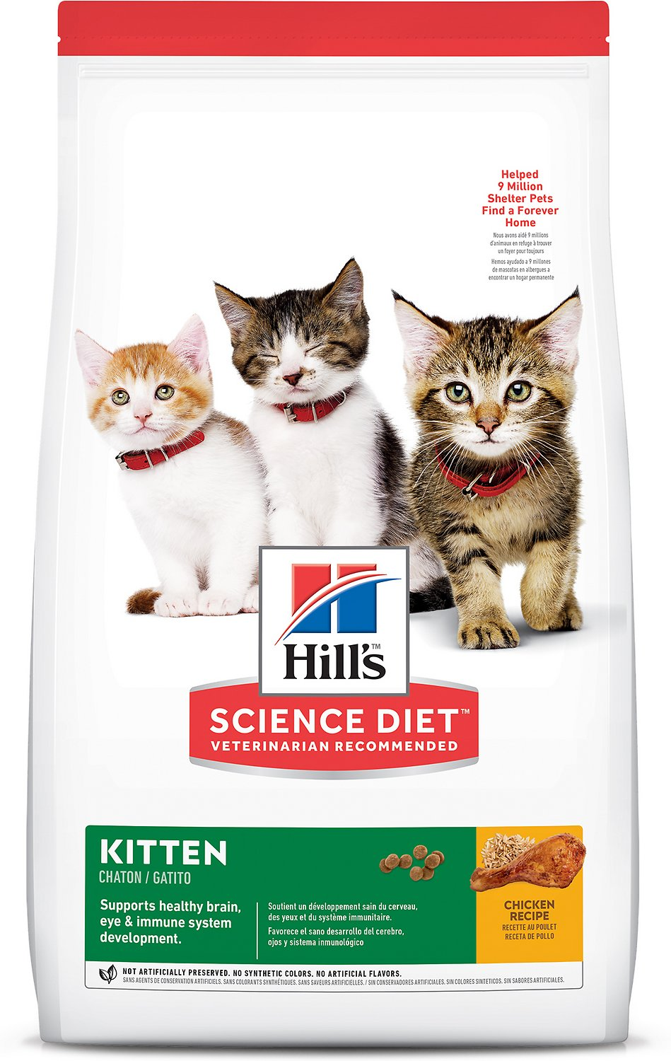 science diet dry kitten food