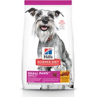 Hill's Science Diet Adult 7+ Small Paws Chicken Meal, Barley & Brown Rice Recipe Dry Dog Food, 15.5-lb bag