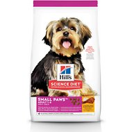 Hill's Science Diet Adult Small Paws Chicken Meal & Rice Recipe Dry Dog Food, 15.5-lb bag