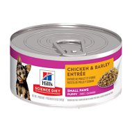 Hill's Science Diet Small & Toy Breed Puppy Chicken & Barley Entree Canned Dog Food, 5.8-oz, case of 24
