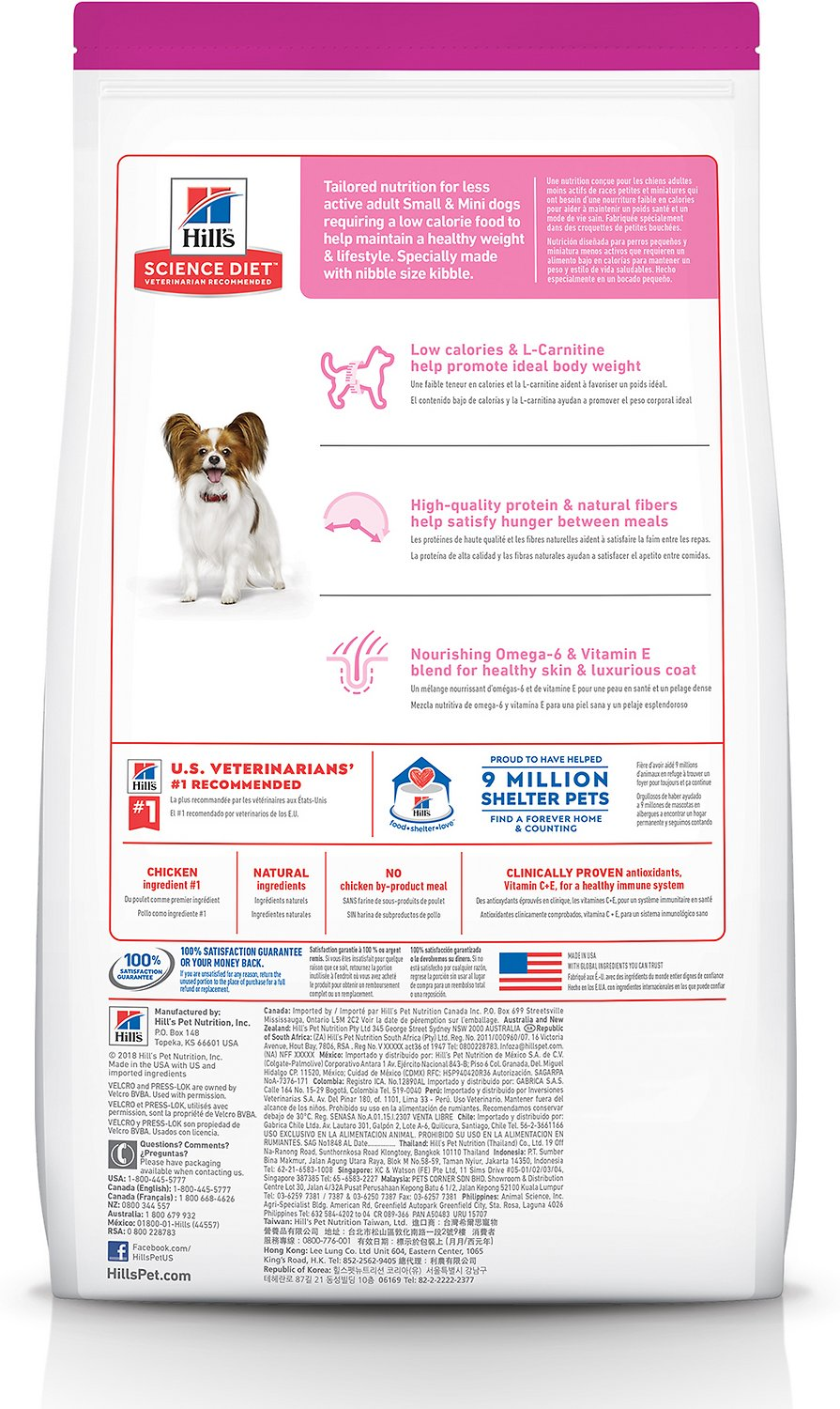 Hill S Science Diet Adult Small Paws Light Dry Dog Food 4