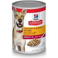 Hill's Science Diet Adult Chicken & Barley Entree Canned Dog Food, 13-oz, case of 12
