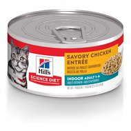 Hill's Science Diet Adult Indoor Savory Chicken Entree Canned Cat Food, 5.5-oz, case of 24
