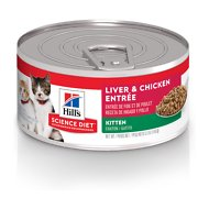 Hill's Science Diet Kitten Liver & Chicken Entree Canned Cat Food, 5.5-oz, case of 24