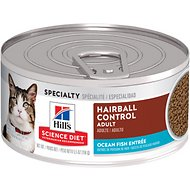 Hill's Science Diet Adult Hairball Control Ocean Fish Entree Canned Cat Food, 5.5-oz, case of 24