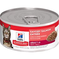 Hill's Science Diet Adult Savory Salmon Entree Canned Cat Food, 5.5-oz, case of 24