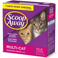 Scoop Away Multi-Cat Meadow Fresh Scent Clumping Cat Litter, 25-lb box
