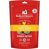 Stella & Chewy's Chewy's Chicken Dinner Patties Freeze-Dried Raw Dog Food, 5.5-oz bag