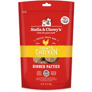 Stella & Chewy's Chewy's Chicken Dinner Patties Grain-Free Freeze-Dried Dog Food, 14-oz bag