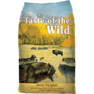 Taste of the Wild High Prairie Grain-Free Dry Dog Food, 30-lb bag