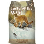 Taste of the Wild Canyon River Grain-Free Dry Cat Food, 15-lb bag
