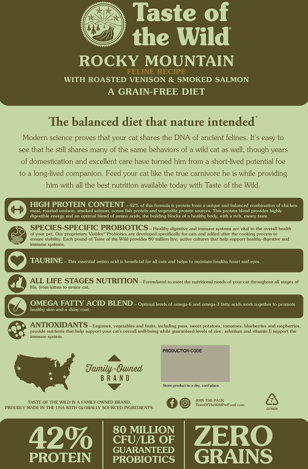Taste Of The Wild Dog Food Reviews >> Taste of the Wild Rocky Mountain Grain-Free Dry Cat Food ...