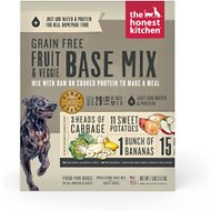 The Honest Kitchen Grain-Free Fruit & Veggie Dehydrated Dog Base Mix, 7-lb box