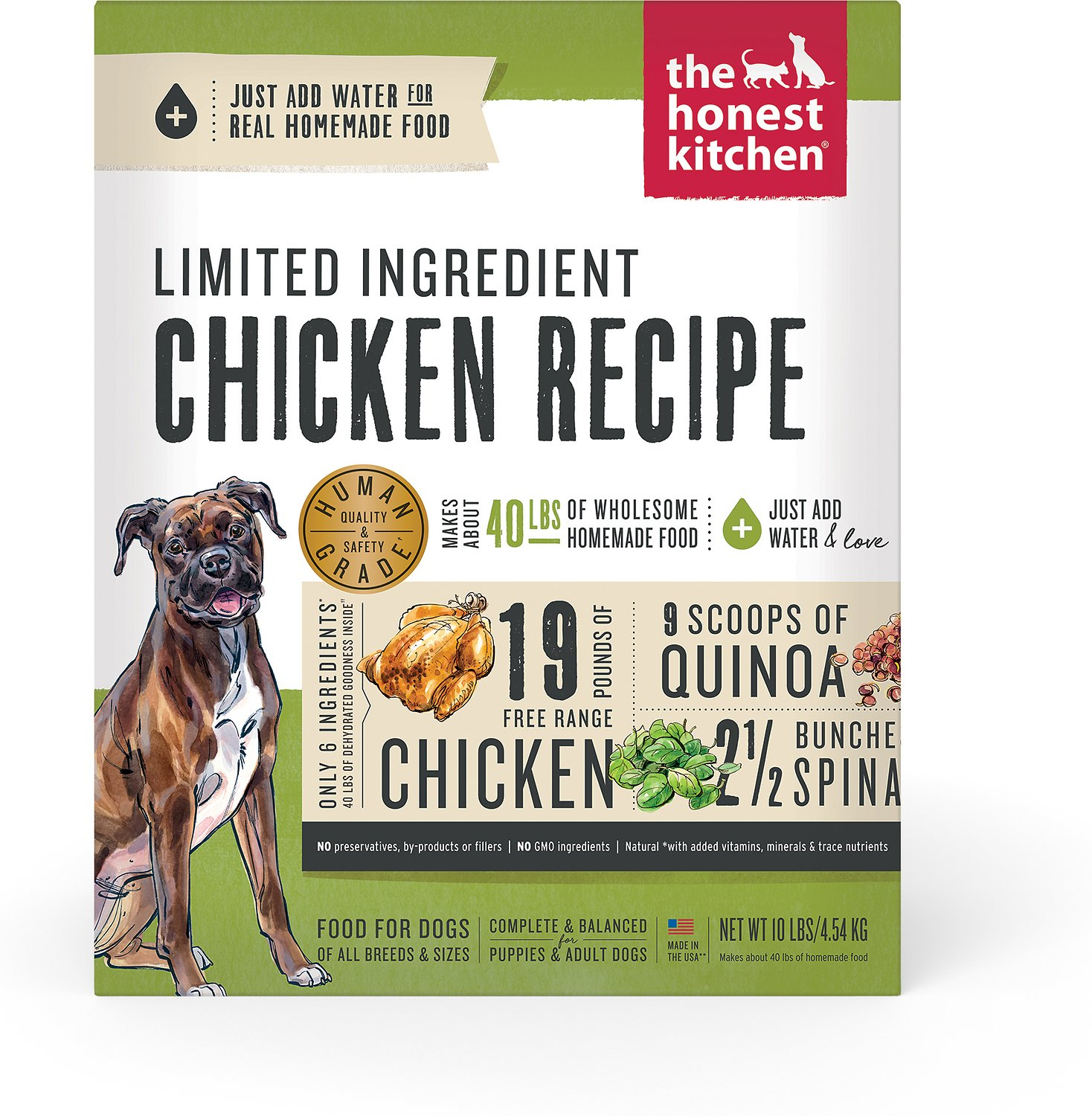 The Honest Kitchen Limited Ingredient Diet Chicken Recipe Grain-Free ...