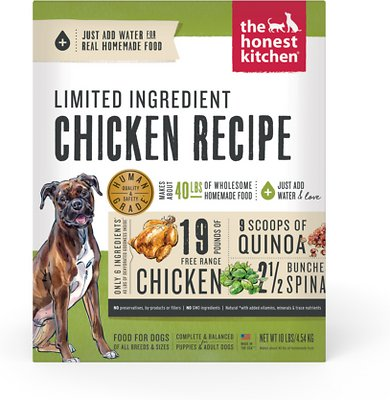 The Honest Kitchen Limited Ingredient Diet Chicken Recipe Grain-Free Dehydrated Dog Food