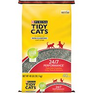 Tidy Cats Non-Clumping 24/7 Performance Long Lasting Odor Control Cat Litter, 40-lb bag
