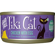 Tiki Cat Koolina Luau Chicken with Egg in Chicken Consomme Grain-Free Canned Cat Food, 2.8-oz, case of 12
