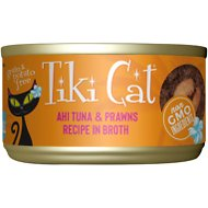 Tiki Cat Manana Grill Ahi Tuna with Prawns in Tuna Consomme Grain-Free Canned Cat Food, 2.8-oz, case of 12