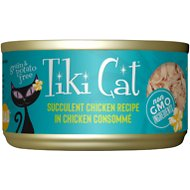 Tiki Cat Puka Puka Luau Succulent Chicken in Chicken Consomme Grain-Free Canned Cat Food, 2.8-oz, case of 12