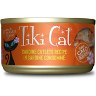 Tiki Cat Tahitian Grill Sardine Cutlets Grain-Free Canned Cat Food, 2.8-oz, case of 12