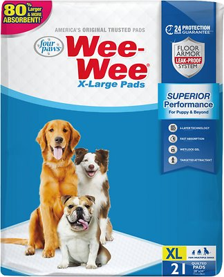 Wee-wee extra large puppy housebreaking pads