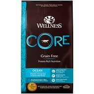 Wellness CORE Grain-Free Ocean Whitefish, Herring & Salmon Recipe Dry Dog Food, 26-lb bag