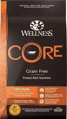 1. Wellness Core Natural Grain-Free Dry Dog Food
