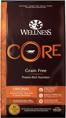 Wellness CORE Grain-Free Original Deboned Turkey, Turkey Meal & Chicken Meal Recipe Dry Dog Food