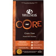 Wellness CORE Grain-Free Original Deboned Turkey, Turkey Meal & Chicken Meal Recipe Dry Dog Food, 26-lb bag