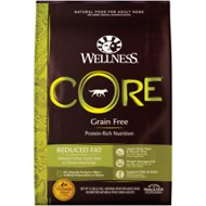 Wellness CORE Grain Free Reduced Fat Turkey & Chicken Recipe Dry Dog Food, 12-lb bag