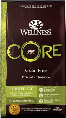 7. Wellness Core Grain-Free Reduced Fat Dry Dog Food
