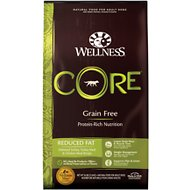 Wellness CORE Grain-Free Reduced Fat Formula Dry Dog Food, 26-lb bag