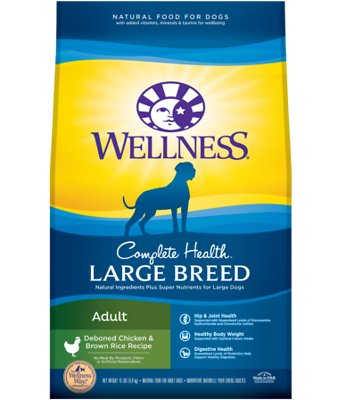 5. Wellness Large Breed Complete Health Adult Dry Dog Food