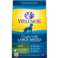 Wellness Large Breed Complete Health Adult Deboned Chicken & Brown Rice Recipe Dry Dog Food, 30-lb bag