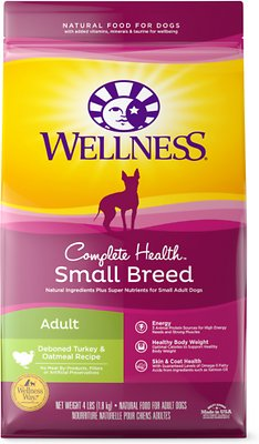 2. Wellness Natural Complete Health Small Breed Dog Food